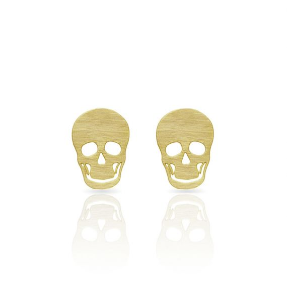 Earrings Calavera Earring Gold