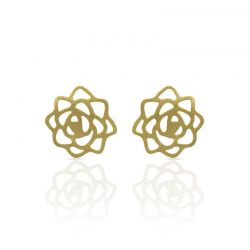Earrings Rose Earring Gold