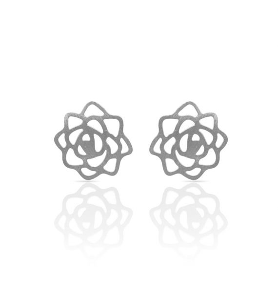 Earrings Rose Earring Silver