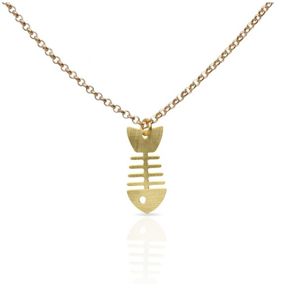 Necklace Raspa Short Pendant Gold