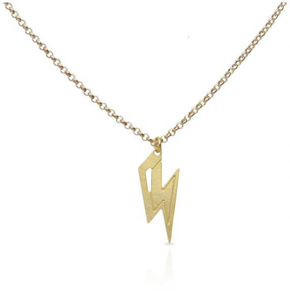 Rayo Gold Short Pendant