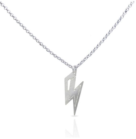 Necklace Thunder Short Pendant Silver