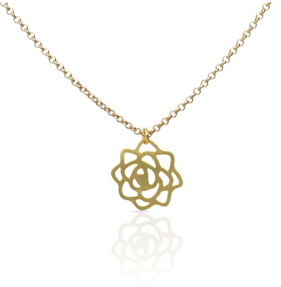 Necklace Rosa Gold Short Pendant
