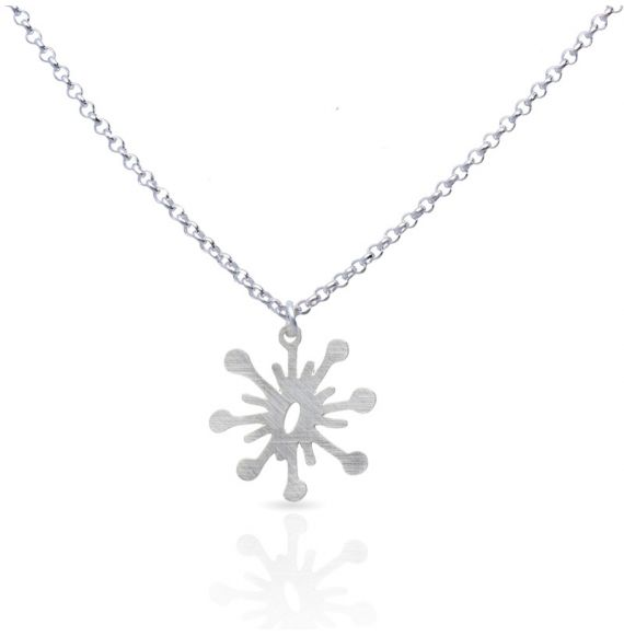 Necklace Flash Short Pendant Silver