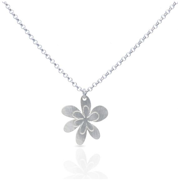 Necklace Maya Silver Short Pendant