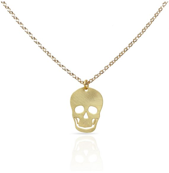 Necklace Calavera Gold Short Pendant