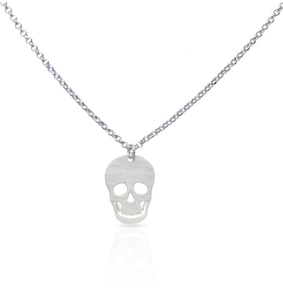 Necklace Skull Short Pendant Silver