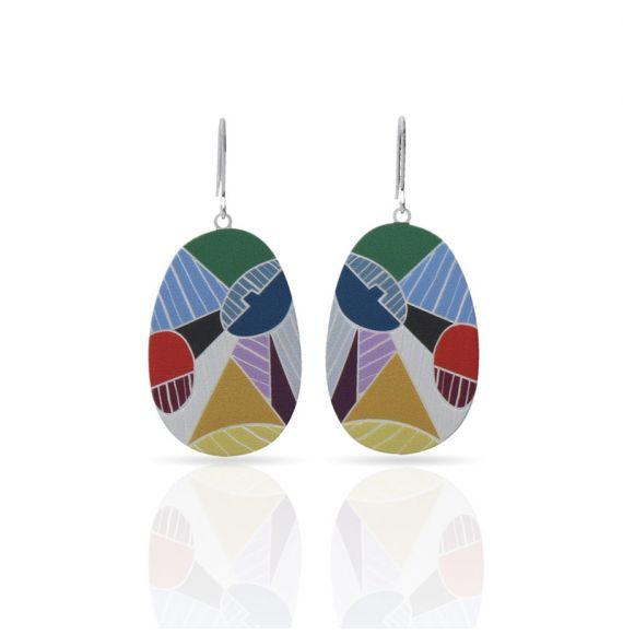 Earrings Cubism Silver Earrings
