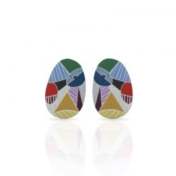 Earrings Cubism Silver Earring