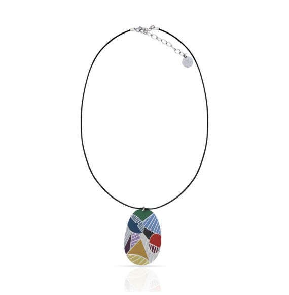 Necklace Cubismo Short Pendant Silver
