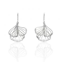Earrings Ginkgo Biloba Silver Earring