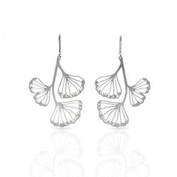 Earrings Ginkgo Biloba Earring Silver