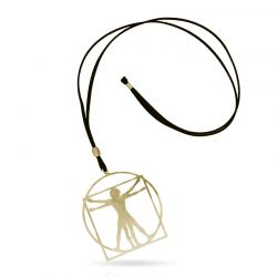 Cool Designs Colection Hombre de Vitruvio Pendant Gold