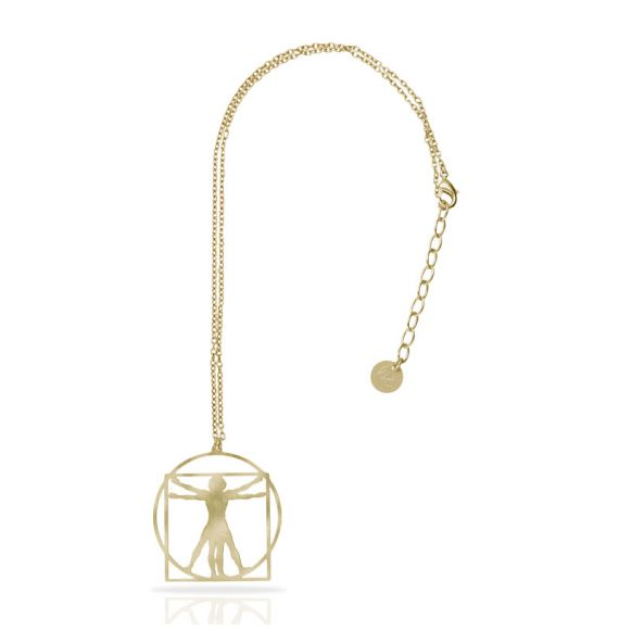 Cool Designs Colection Hombre de Vitruvio Short Pendant Gold