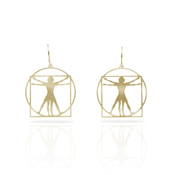 Cool Designs Colection Hombre de Vitruvio Earring Gold