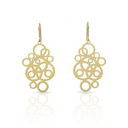 "Earrings Earrings \""Círculos\\"" Gold"