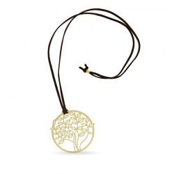 Necklace Tree Long Pendant Gold
