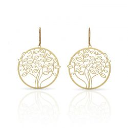 Earrings Tree Earrings Gold
