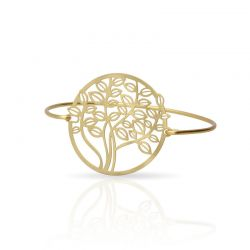 Tree Click Bracelet Gold