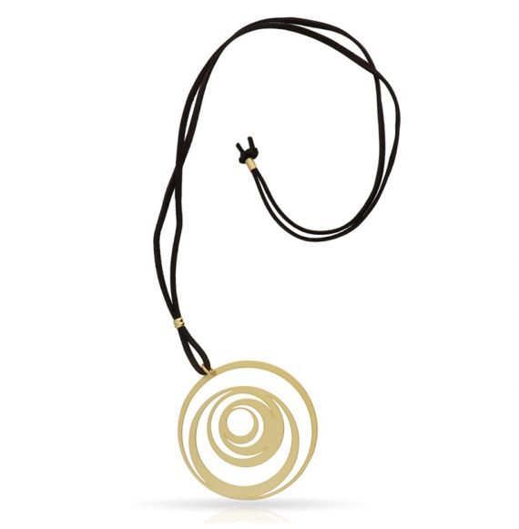 Necklace Excentrico Pendant Gold