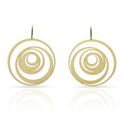 "Earrings Earrings \""Excéntrico\\"" Gold"