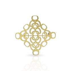 Brooches Geometric Pin Gold