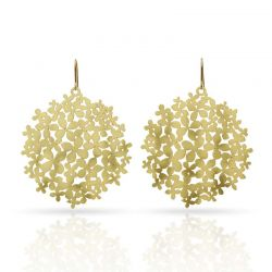 "Earrings Earrings \""Hortensia\\"" Gold"