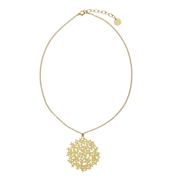"Necklace Short Pendant \""Hortensia\\"" Gold"