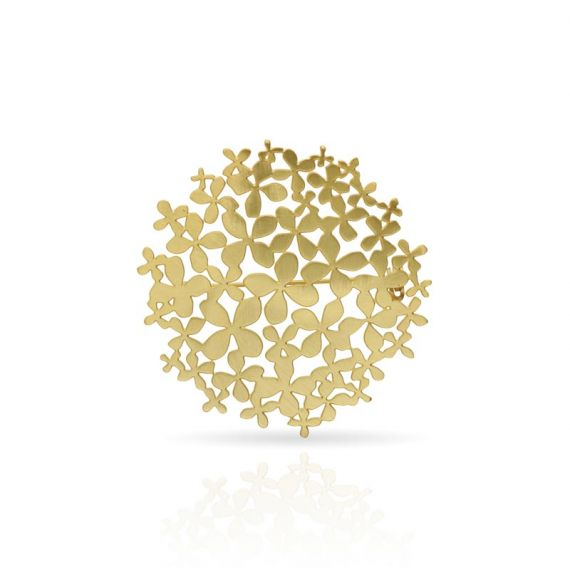 "Brooches Pin \""Hortensia\\"" Gold"