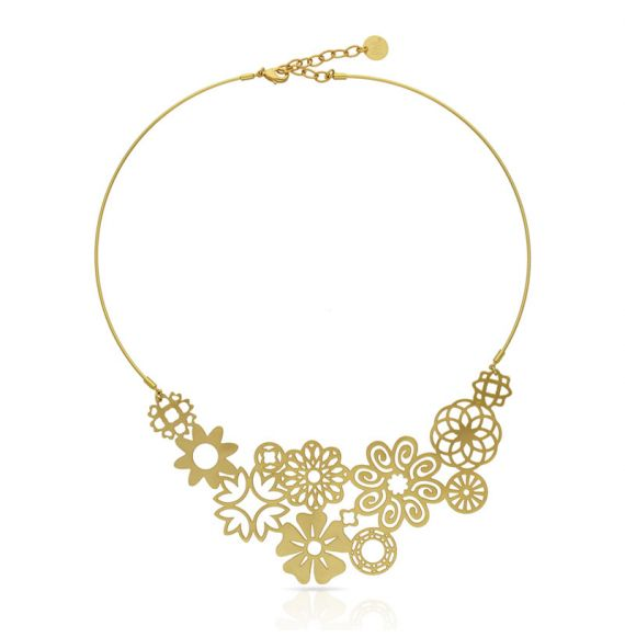 Chokers Miscelanea Short Pendant Gold