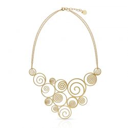 Chokers Spiral Gold Necklace