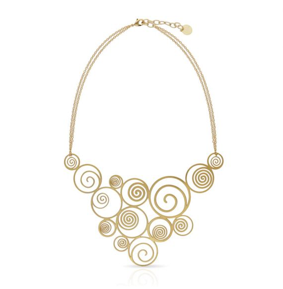 Chokers Spiral Necklace Gold