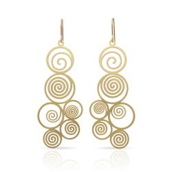 Earrings Spiral Gold Earring