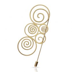 Spiral Gold Brooch