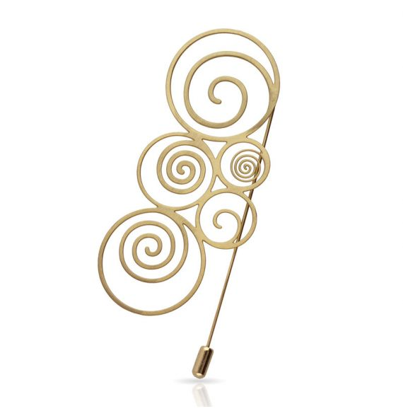 Brooches Espiral Brooch Gold