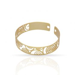 The Perfect Gift Click Bracelet Spiral Gold