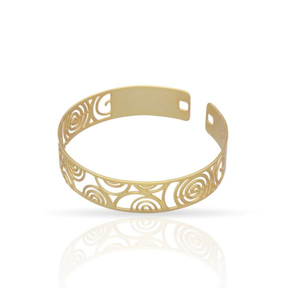 "The Perfect Gift \""Espiral\\"" Click Bracelet Gold"