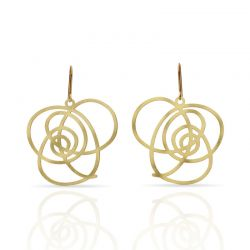 "Earrings Earrings \""Que Lio!\\"" Gold"
