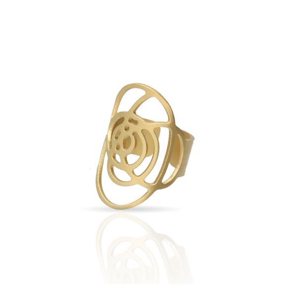"""Rings Ring \\""""Que Lio!\\"""" Gold"""
