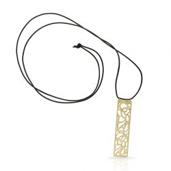 "Necklace Long Pendant \""Lianas\\"" Gold"
