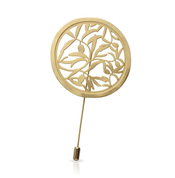 Olivo Gold Brooch