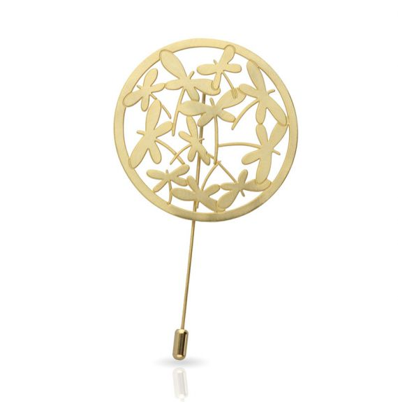 Brooches Dragon-fly Brooch Gold