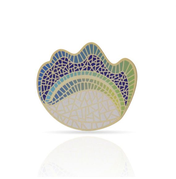 "Brooches Pin \""Balcón de Gaudí\\"" Gold"