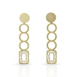 Earrings Precious Stones Long Earring Gold