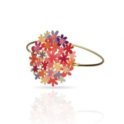Orange Bouquet Gold Clic Bracelet