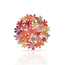 Brooches Orange Bouquet Gold Pin