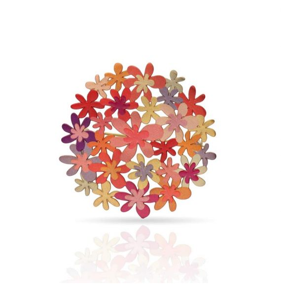Brooches Orange Bouquet Pin Gold