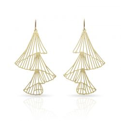 Earrings Capnella Long Earrings Gold