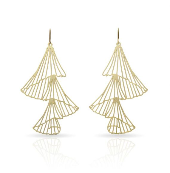 Earrings Capnella Long Earring Gold