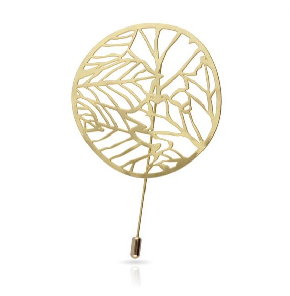 Brooches Nature 2 Brooch Gold
